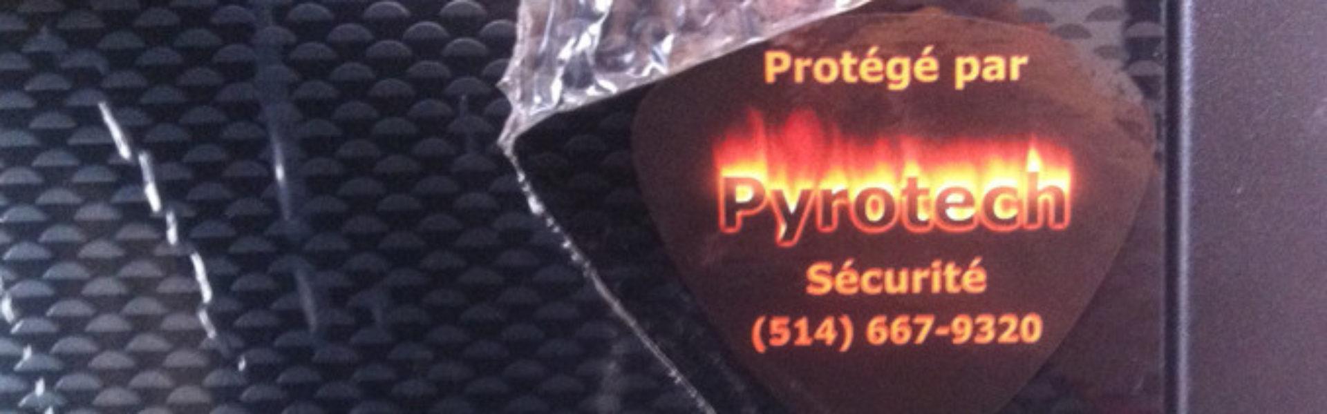 Pyrotech sécurité